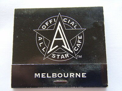 Crown Casino Melbourne Official All Star Cafe 0396998326 Matchbook