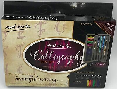 Mont Marte Calligraphy Pen Set 33Pce in Gift Tin
