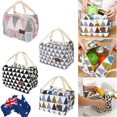Insulated Thermal Cooler Lunch Box Carry Tote Picnic Case Storage Bag Portable A
