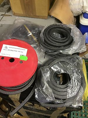 "BLACK GLAND PACKING ROPE / SHAFT SEAL - 1/2"" And 3/8"" SQUARE x 1M LONG"