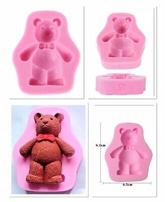"~x1 ADORABLE SILICONE 3D ""TEDDY BEAR"" MOULD (SOAP MAKING/CHOCS/FONDANT/COOKIES)"