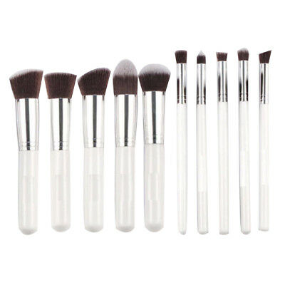 10 Pcs/Set Durable Professional Make up Brush Set Foundation Blusher Face Powder