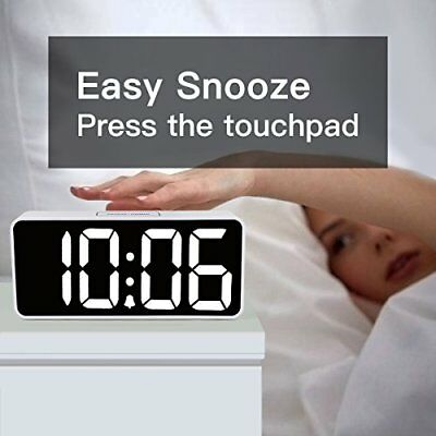 """9"""" Extra Large LED Digital Alarm Clock w/ USB Port Phone Charger Touch & Dimmer"""