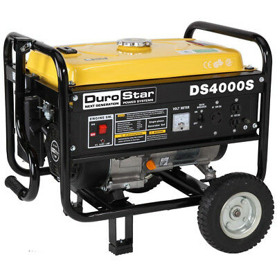 Portable Generator Inverter Gas Powered 4000W with RV Ready to TOW Wheel Kit NEW