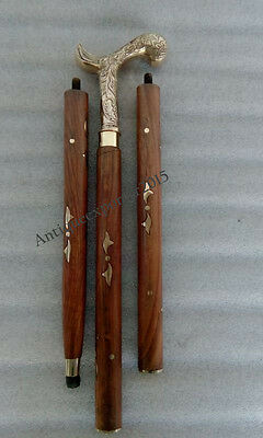 Nautical Brass Designer Handle Wooden Walking Stick 36 inches Christmas Gift