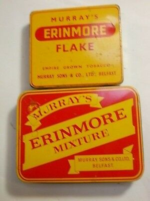 2 Old Empty Tobacco Tins. Erinmore Flake   G