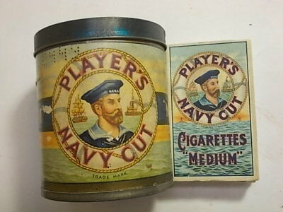 Old Empty Players 50 Cigarette Tobacco Tin. Plus Packet.  G