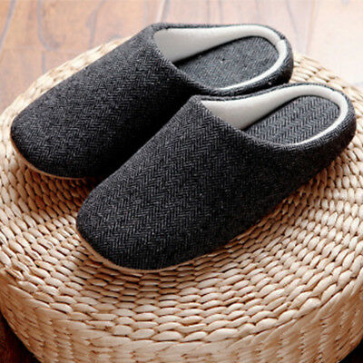 Men's Solid Soft Indoor Floor Soft Non-slip Slippers Cotton House Home Shoes ❤️