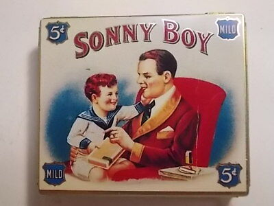 Old Empty Cigarette Tobacco Picture Tin. Sonny Boy. VG