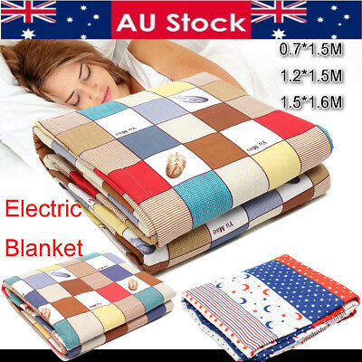 Electric Heated Blanket Throw Rug Snuggle Heating Mat Warmer Fiber Pad Control