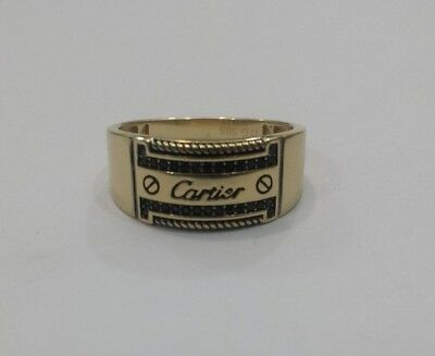 Vintage 14K Cartier Mens Ring 585 Solid Yellow Gold Beautiful, Rare & Unique..