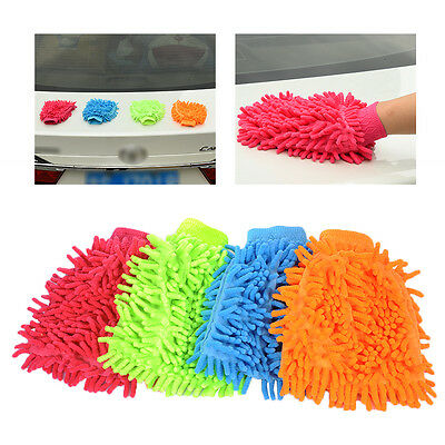 NEW 1Pc Car Washing Gloves Wipe Window Home Chenille Cleaning Cloth Duster Towel