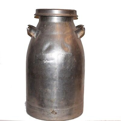 Vintage 40 qt Stainless Steel Milk Can 10 gal Firestone used for Milk or Water