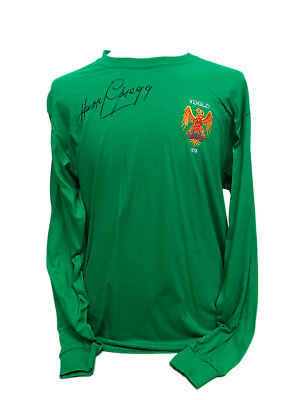 1f4da3c8e30 Harry Gregg Signed Manchester United 1958 Goalkeepers Shirt Busby Babes  Proof
