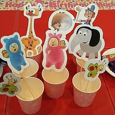 Babytv birthday party character cutouts 3 x A4 sheets