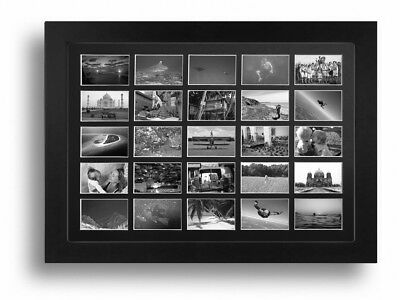 Large Multi Aperture Photo Frame Fits 25 Photos 52cm X 40cm Black