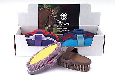 Horse Sponge Brush Soft Touch Rhinegold New Bath Time Sponge And Brush In One