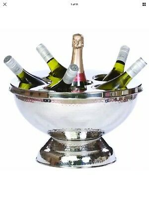 NEW Ice Bucket Wine Champagne Cooler Large Stainless Steel 6 Bottle Holder