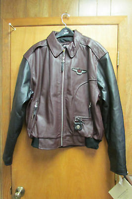 Harley Davidson 95th Anniversary Mens XL Leather Jacket New Old Stock w/ Tags