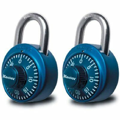 Master Lock 1530T Two-Pack of Assorted Color Dial Padlocks with Aluminum Covers
