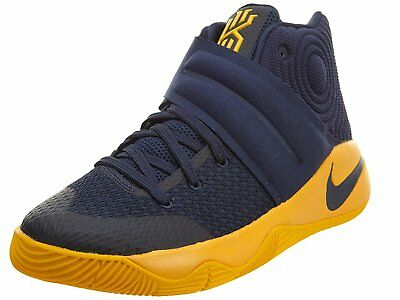 Nike Kyrie 2 GS SZ 6 Y Mid Navy University Gold 826673-447 New In Box
