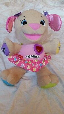 Fisher Price Laugh And Learn Love To Play Puppy Dog Pink Baby Girl