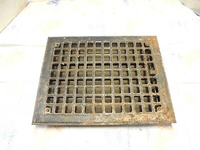 "pressed steel furnace air grate with fins 11"" X 14"" fits 12"" X 9"" opening"