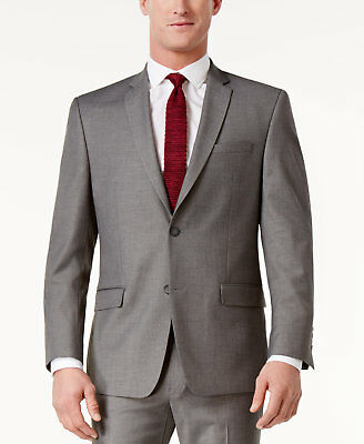 $303 ANDREW MARC NEW YORK mens GRAY FIT SUIT BLAZER JACKET SPORT COAT 38 S