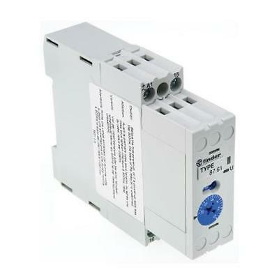 1 x Finder Single Time Delay Relay, Screw, 0.07-10 min, 0.15-10 s, 1 Contact