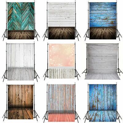 5x7ft 3D Wood Wall Floor Scenic Photography Backdrop Vinyl Photo Studio Prop 3x5