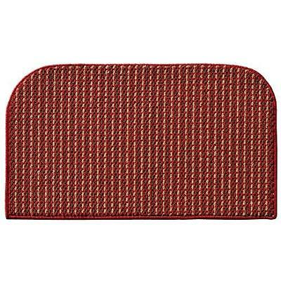 Garland Rug Berber Colorations Kitchen Slice Rug, 18-Inch by 30-Inch, Red
