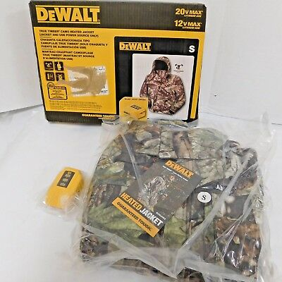Dewalt DCHJ062B-S True Timber Heated Mens Camo Jacket Small Adapter Only