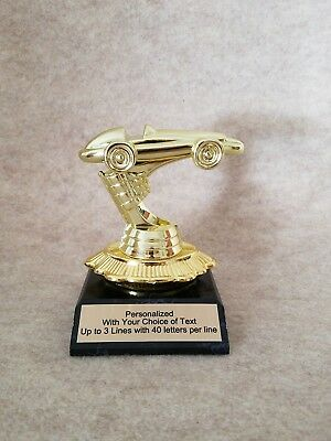 Pinewood Derby Cub Scout Trophy on Unique base -  Free Personalized Plaque