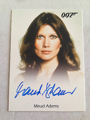 James Bond Archives 2015 Autograph Card Maud Adams As Andrea Anders
