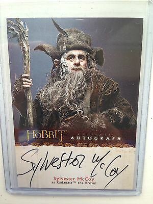 The Hobbit An Unexpected Journey Autograph Card A20 Sylvester McCoy Radagast