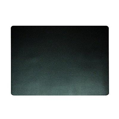 "Artistic 12"" x 17"" Eco-Black Desk Pad with Microban, Black"