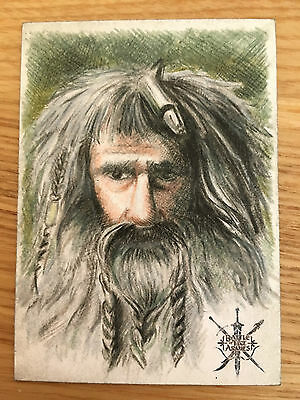 The Hobbit Battle Five Armies Sketch Card by Can Baran c4nbaran of Bifur