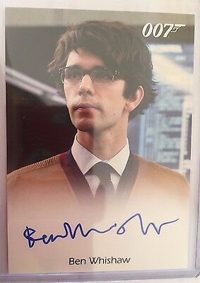 James Bond Classics 2016 Autograph Card Full Bleed Ben Whishaw as Q