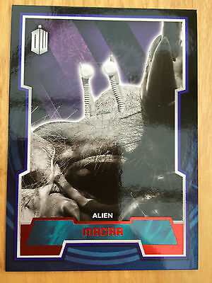 Topps Doctor Who 2015 Red Parallel 82 Base Card Macra 01/50