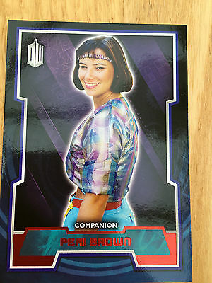 Topps Doctor Who 2015 Red Parallel 40 Base Card Peri Brown 01/50