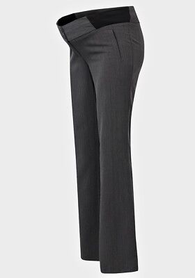 New Ex New Look Maternity Grey Trousers 14 or 16 Wide Leg Under Bump Work Office