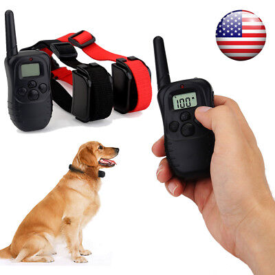 2 Dogs Shock Training Collar 300m LCD Waterproof Rechargeable Electric Remote