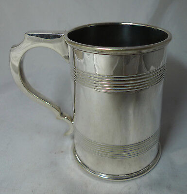 Antique Georgian Style Silver Plated Pint Mug By Henry Wilkinson 12cm A602017