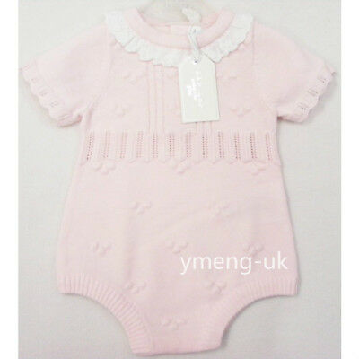*SALE* Zip Zap Gorgeous Baby Girl's Pink Knitted Romper Frill Neck/Top &Shorts