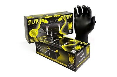 Black Mamba Super Strong Heavy Duty Mechanics Workshop Disposable Nitrile Gloves