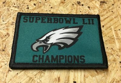 Philadelphia Eagles Superbowl LII Champs Morale Patch Tactical Military Army