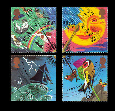 GB Royal Mail 2001 MNH The Weather Complete Stamp Set SG 2197-2200 [MS2201]