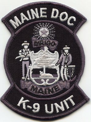 MAINE ME STATE DOC Department of Corrections K-9 sheriff police PATCH