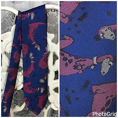 The Flintstones Dino Tie Ralph Marlin Necktie Vintage 1992 Dinosaur Pet Dog