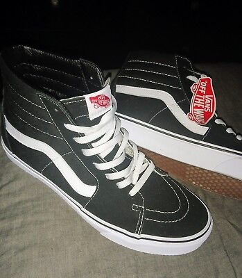 LIKE NEW WORN Once VANS SK8 HI Shoes Black White Gum SZ 11 2017 w OG ... 58df3a4f6